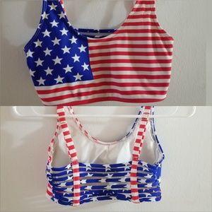 Caged American Flag Patriotic 4th of July Bikini